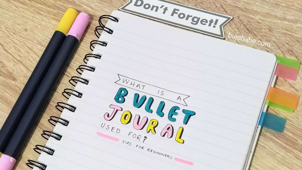 What is a bullet journal used for