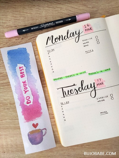 how to create a daily log for bullet journal