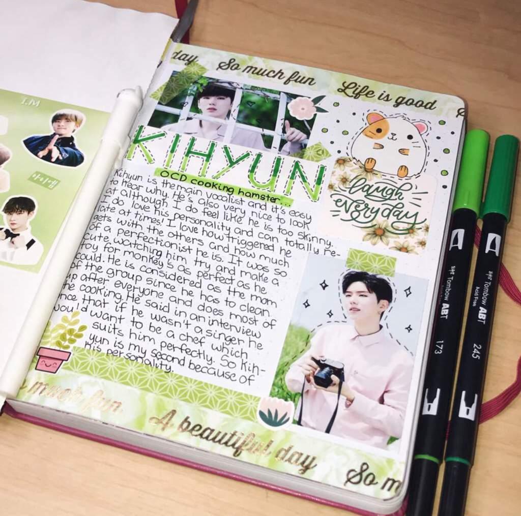 kpop journal spread ideas