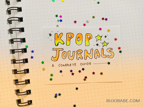kpop journals and trackers