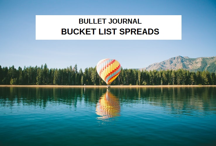 bullet journal bucket list spreads, summer bucket list spreads, yearly bucket list spread, bujo bucket list