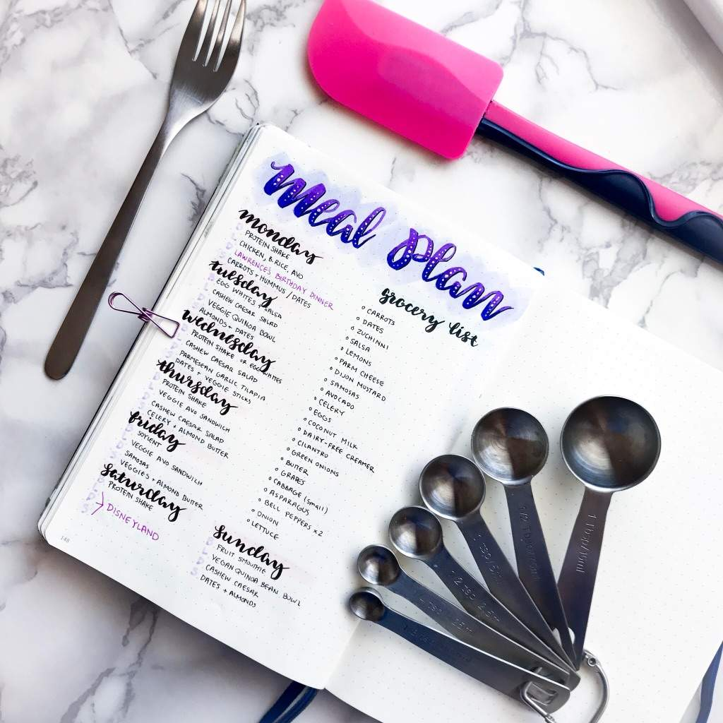 bullet journal meal planning spread ideas, bullet journal meal planning, meal planning spreads, bullet journal meal plan, meal planning layouts