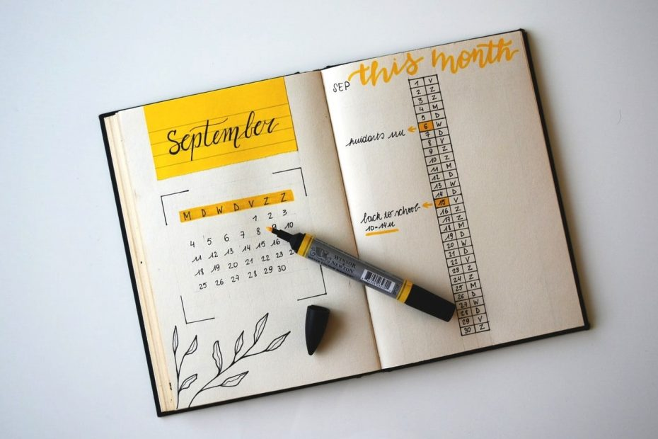 bullet journal monthly cover page ideas