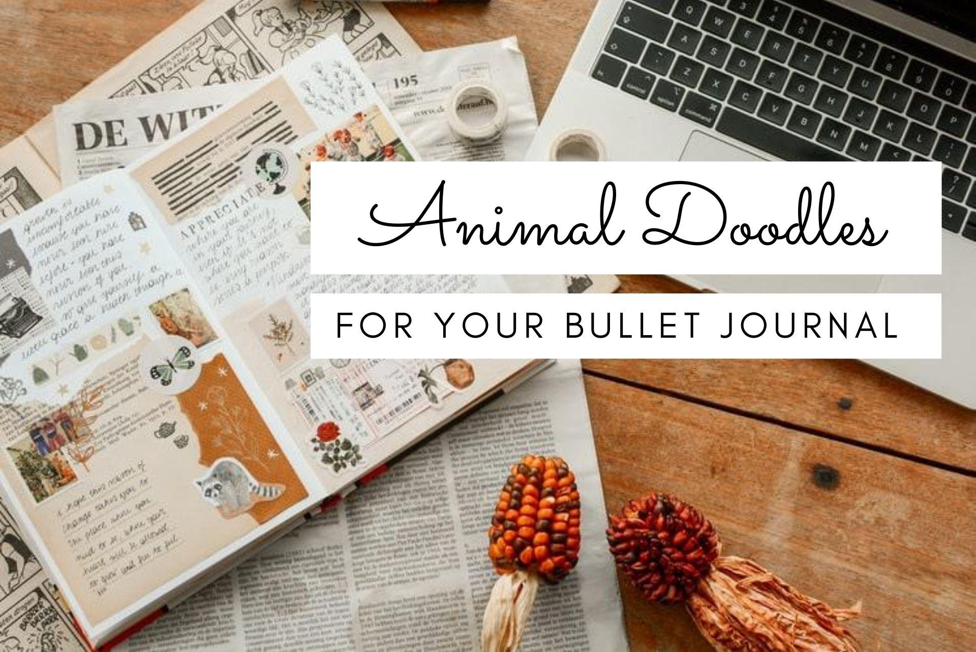 cute animal doodles, bullet journal doodles, animal doodles