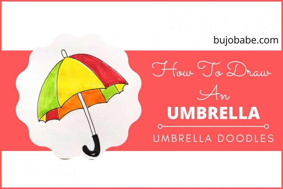 how to draw an umbrella step by step umbrella doodles