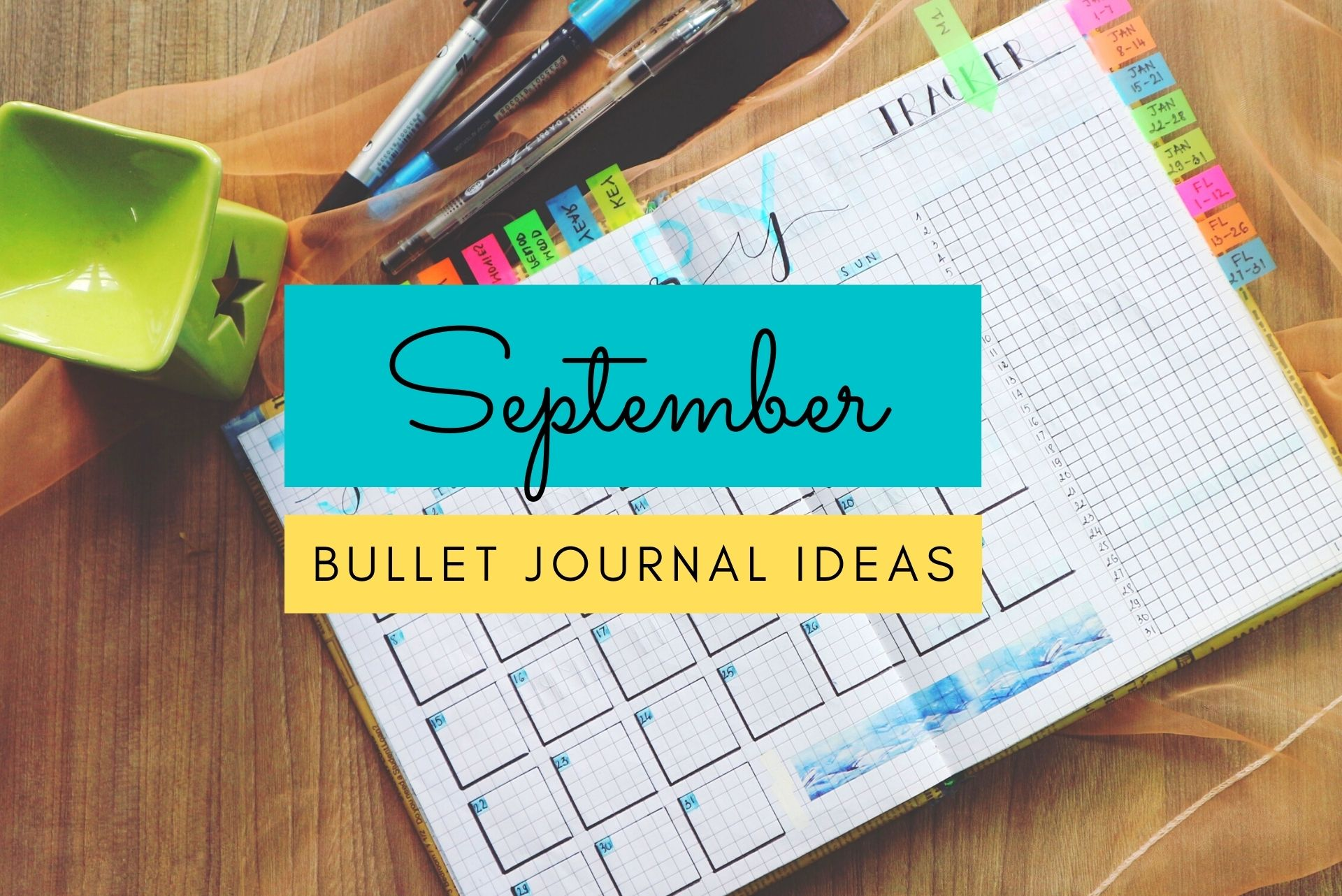September bullet journal ideas, september spreads, bullet journal spreads