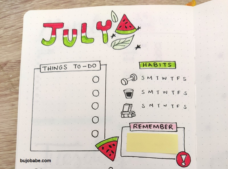 bullet journal themes