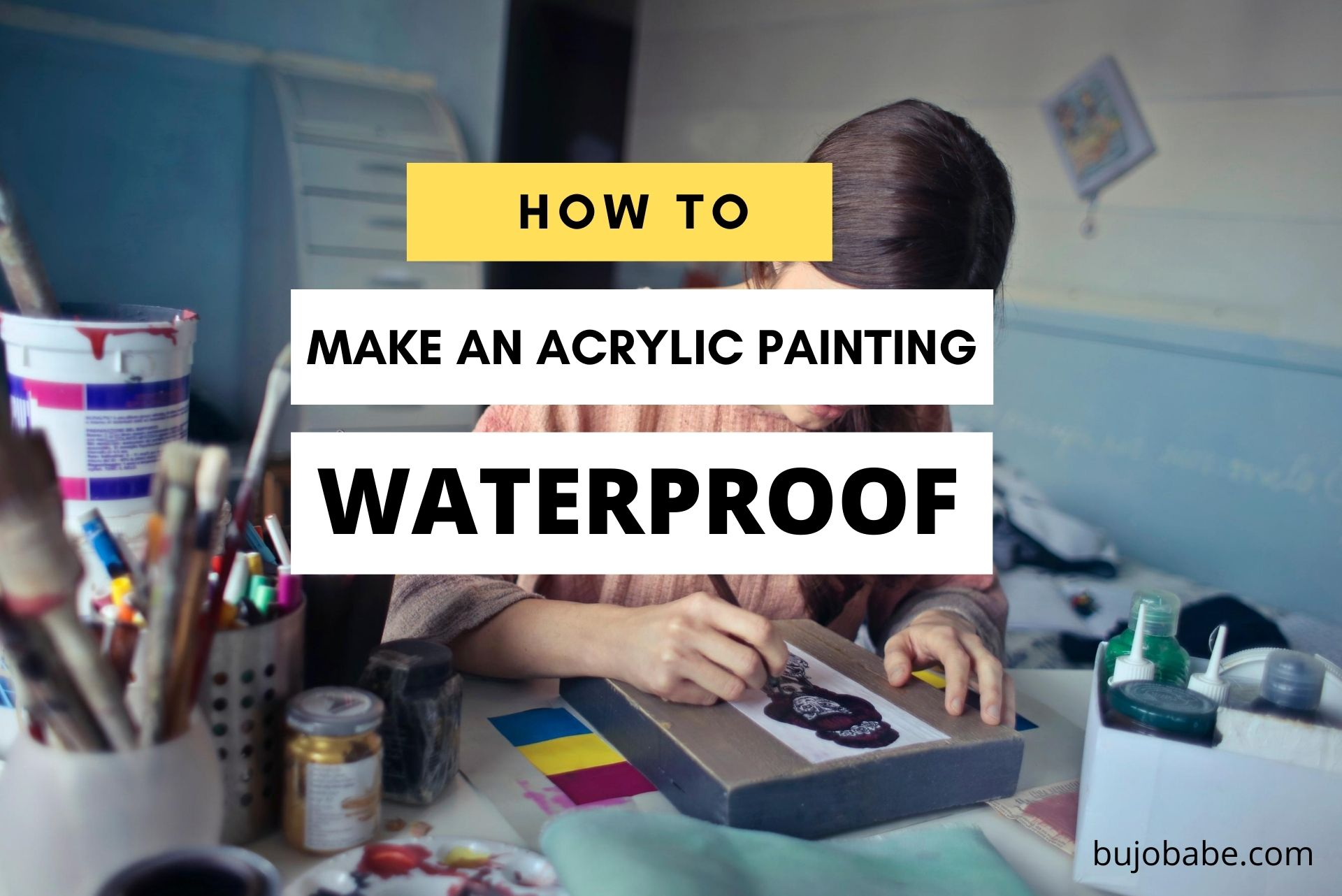 how to make an acrylic painting waterproof varnishing tips