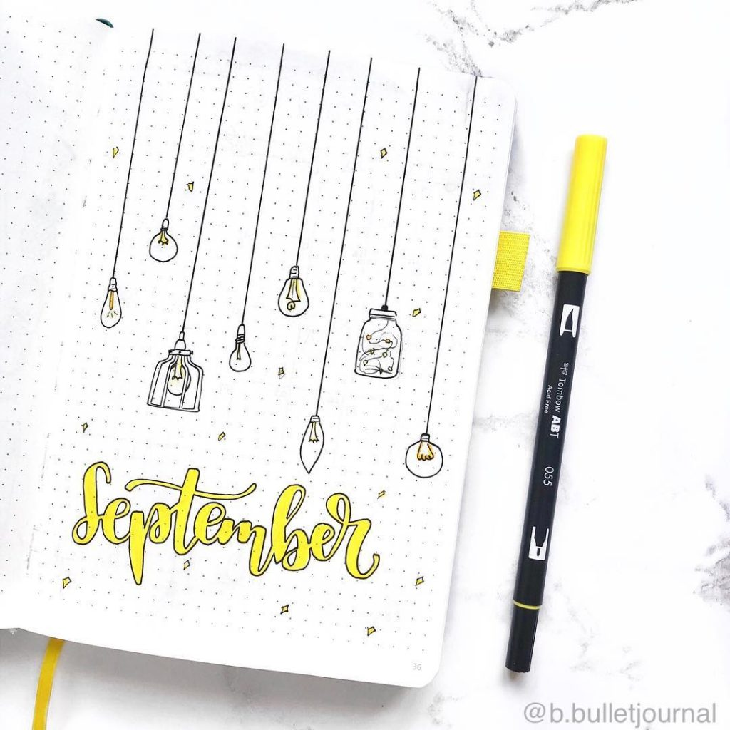 September Bullet Journal Ideas, Bullet Journal Monthly Themes