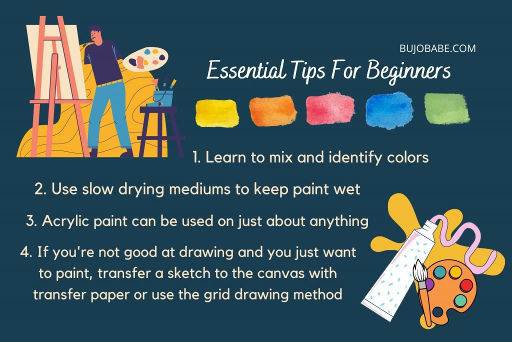 beginner acrylic painting tips