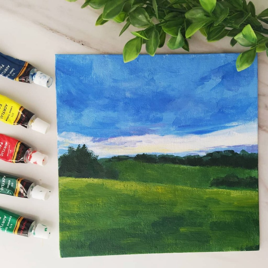 Loose Acrylic landscape painting