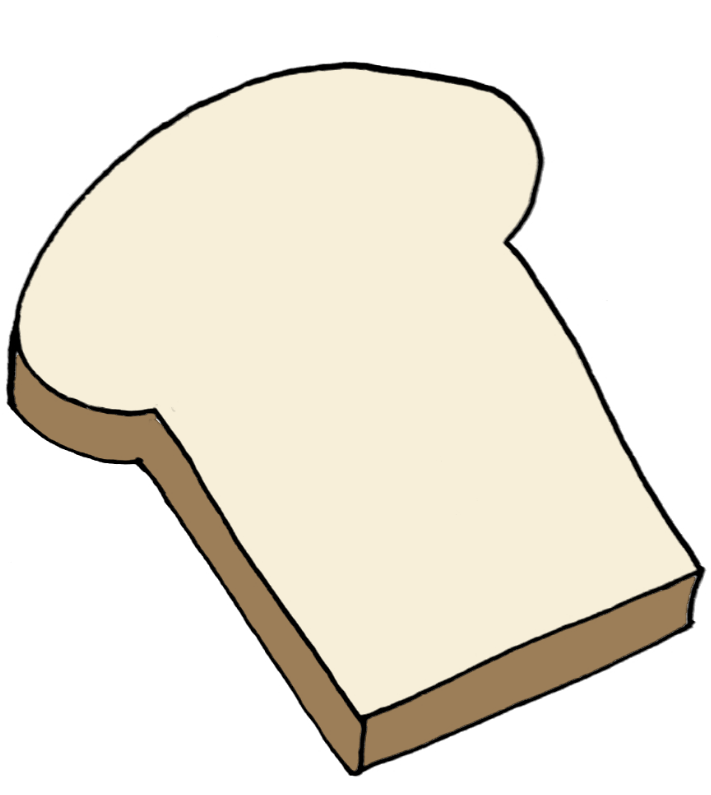 How to draw a slice of bread step 7