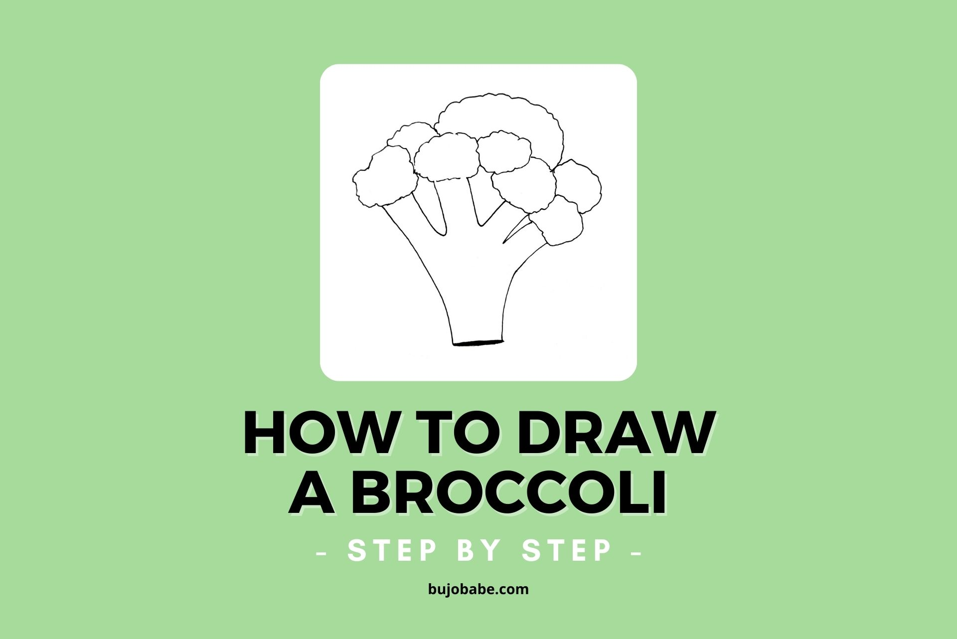 How to draw broccoli step by step drawing tutorial