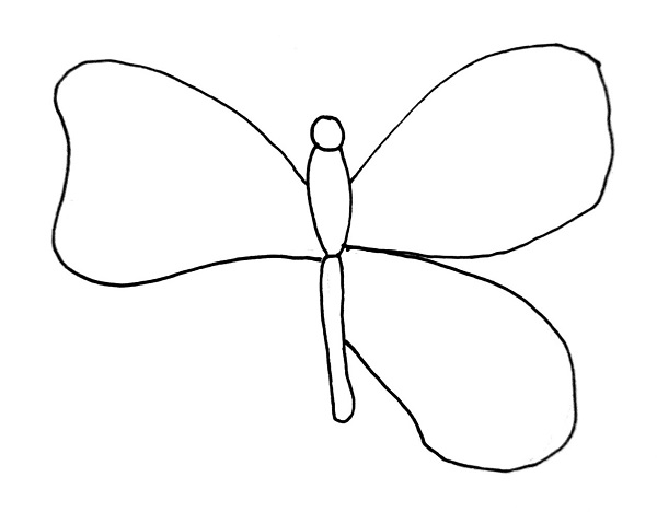 how to draw a butterfly step 5