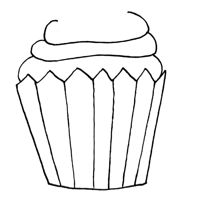 how to draw a cupcake step 6