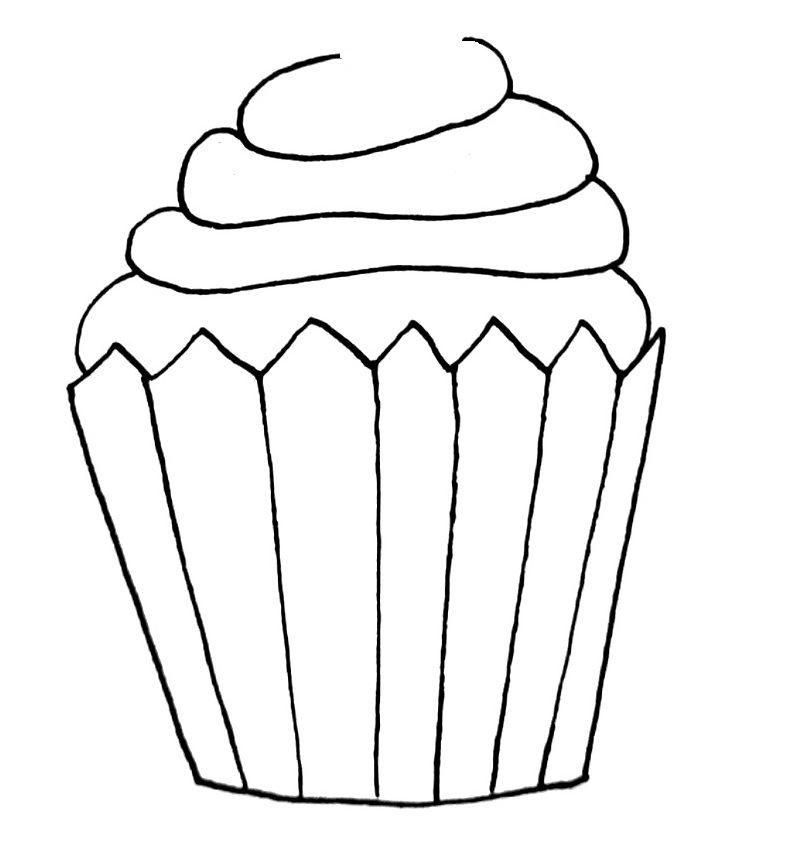 how to draw a cupcake step 7