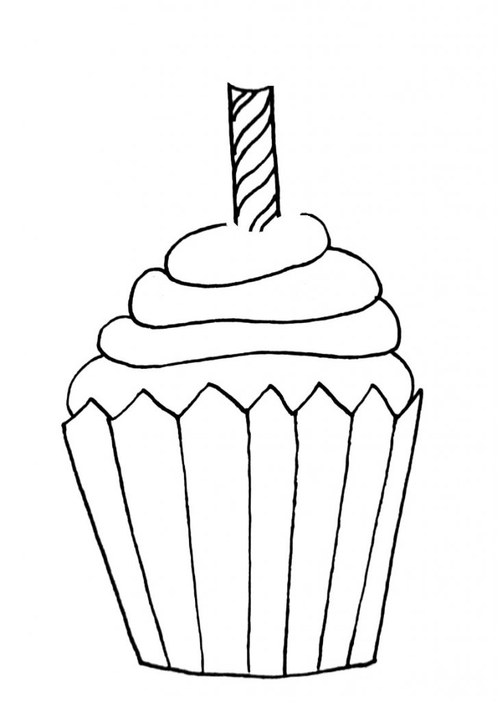 how to draw a cupcake step 8