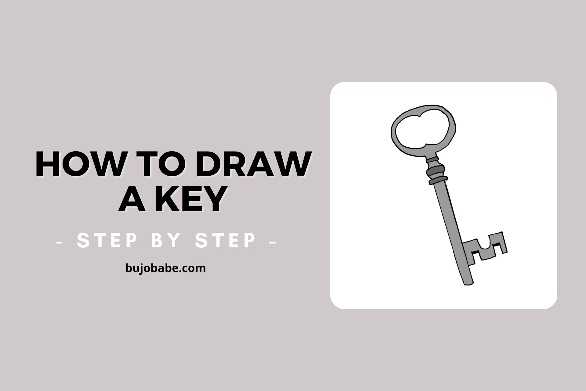 how to draw a key step by step