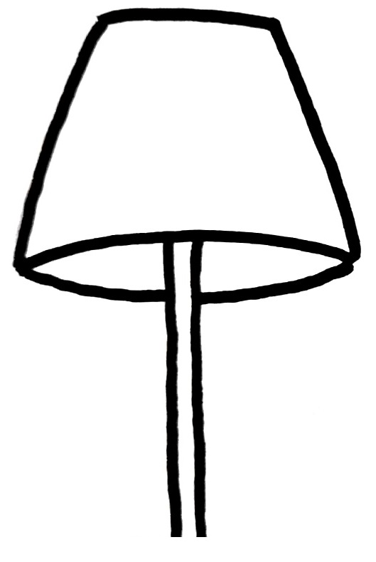 How To Draw A Lamp Step 3