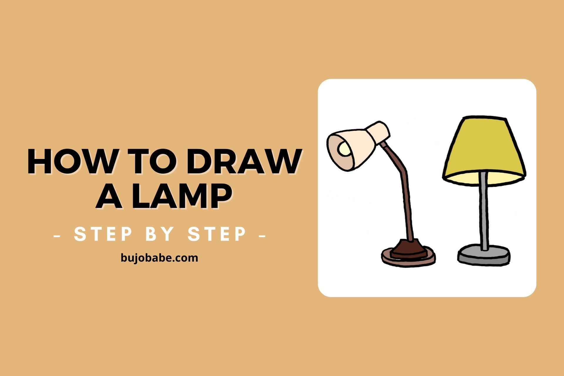 how to draw a lamp step by step