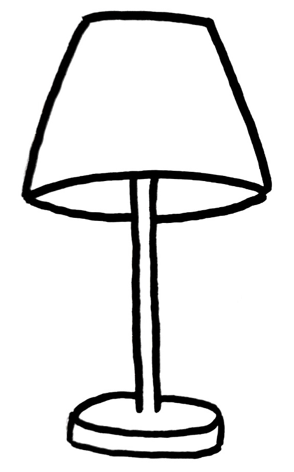 How To Draw A Lamp Step 4
