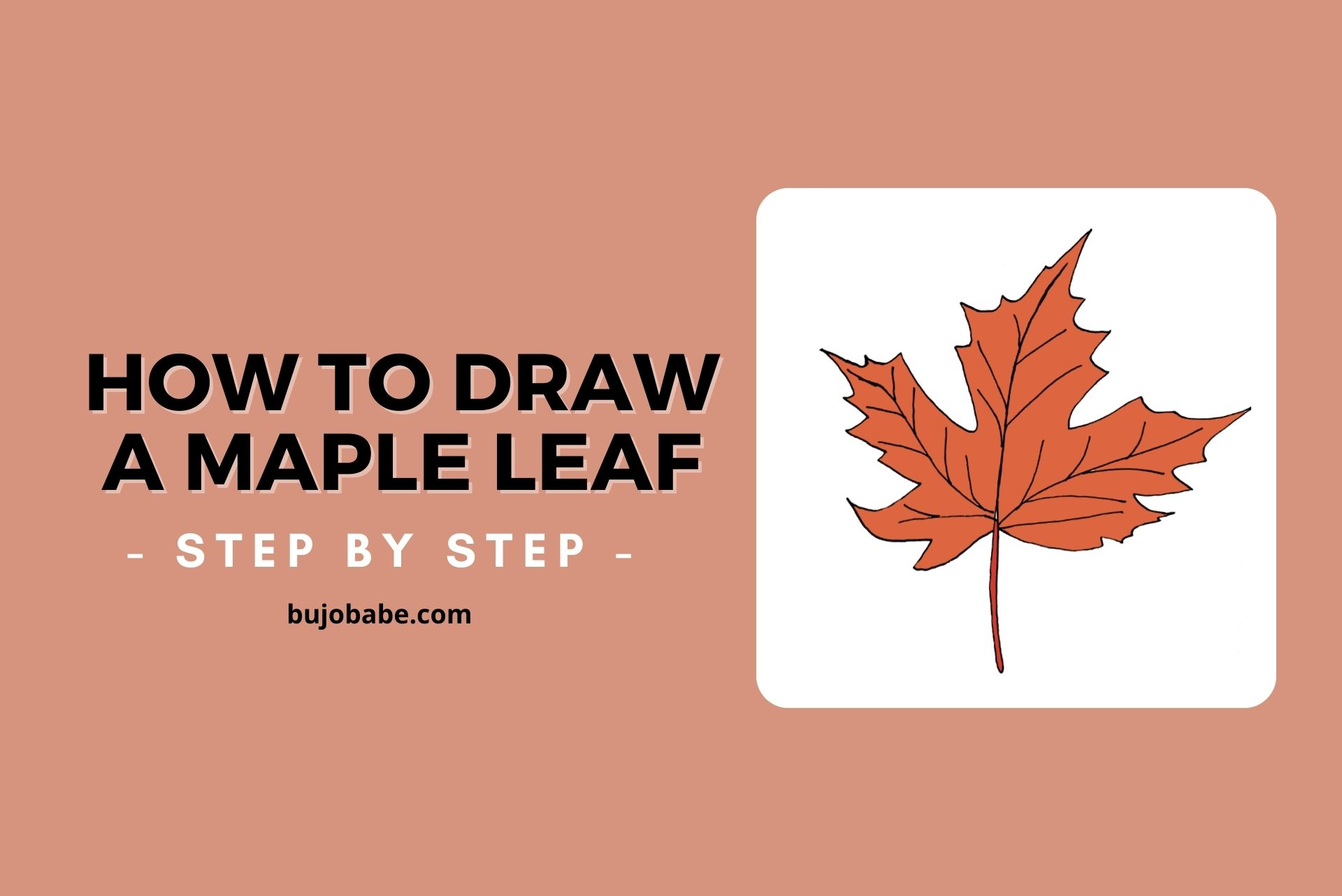 how to draw a maple leaf step by step