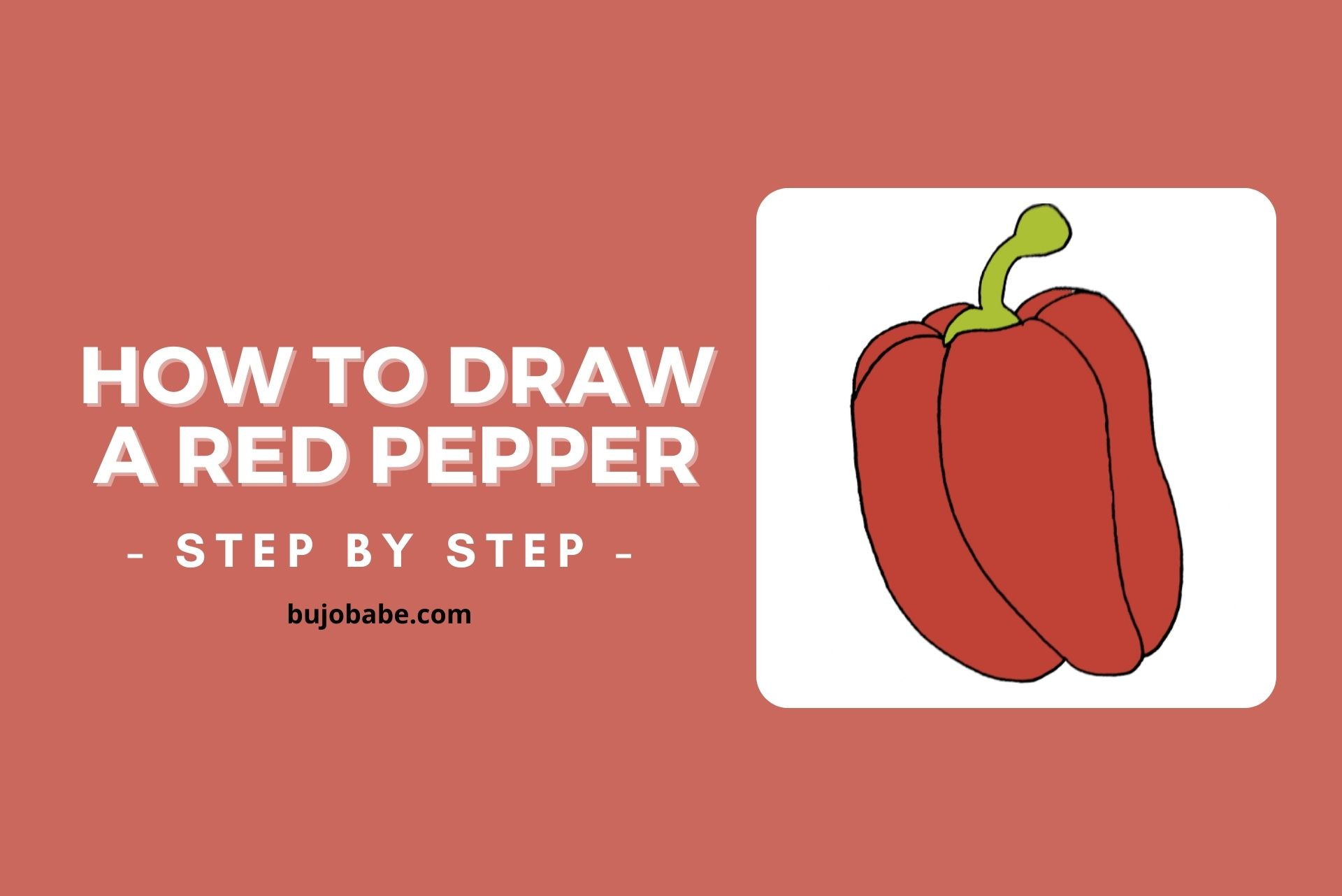 how to draw a pepper step by step