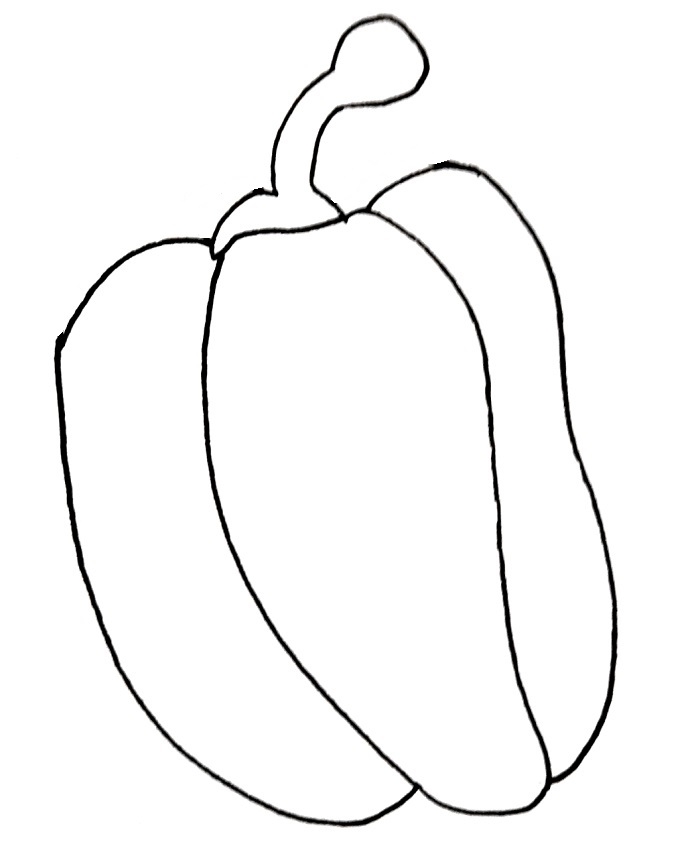 how to draw a red pepper step 5