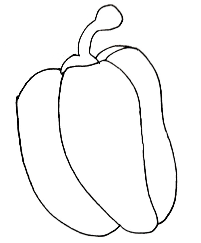 how to draw a red pepper step 6