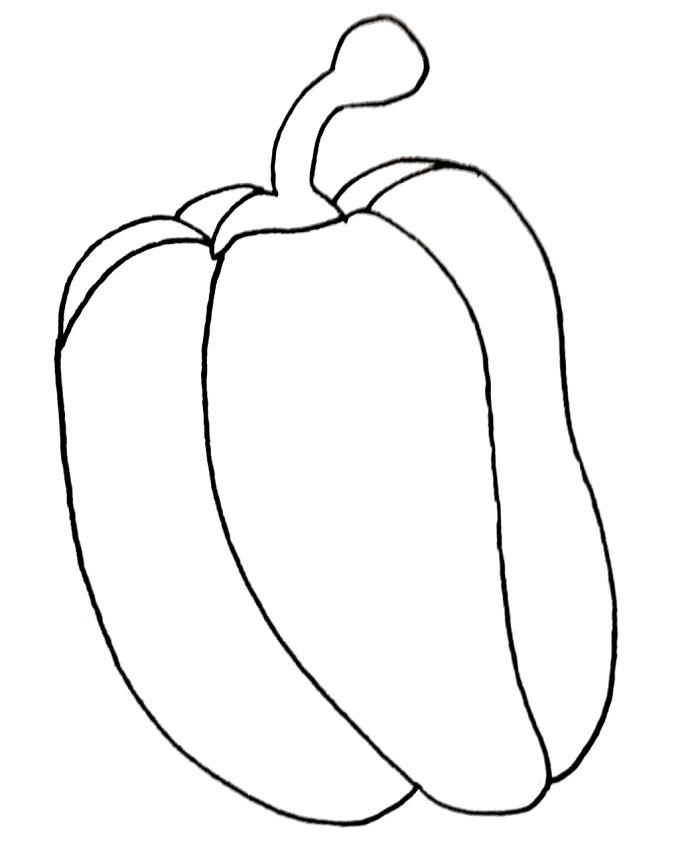 how to draw a red pepper step 7