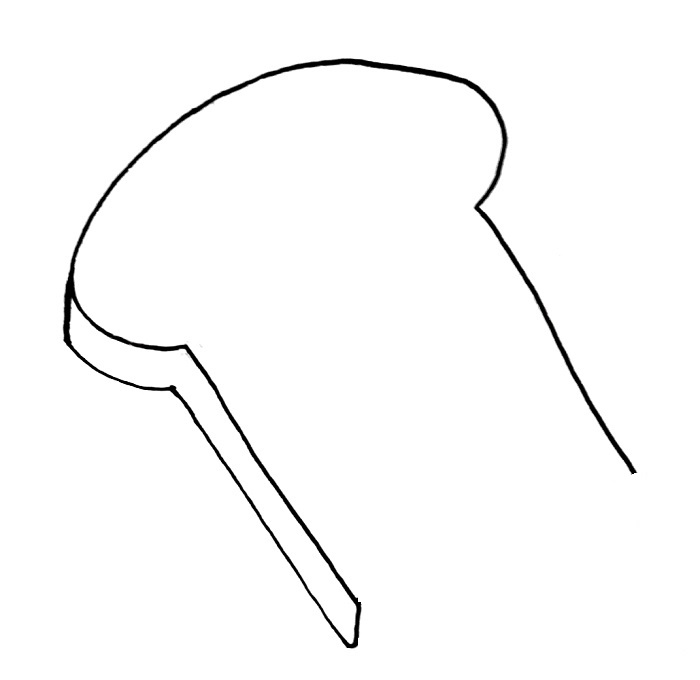 How to draw a slice of bread step 4