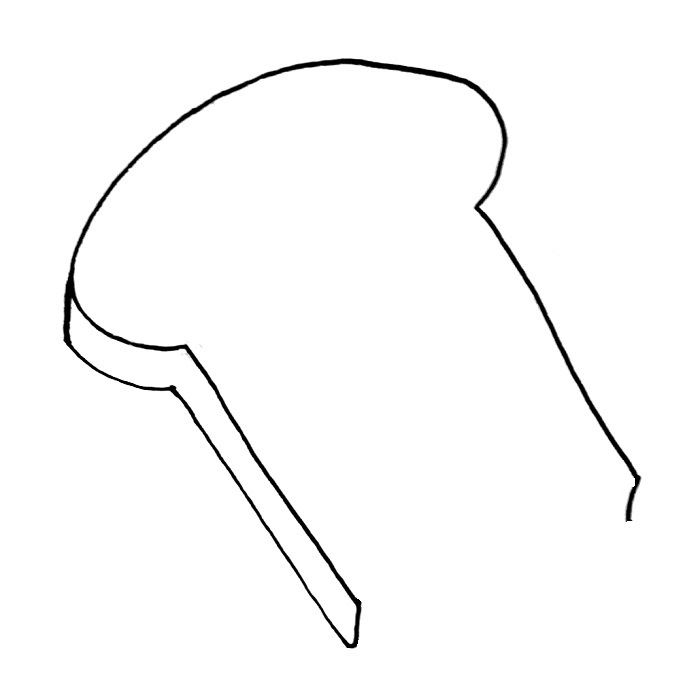 How to draw a slice of bread step 5