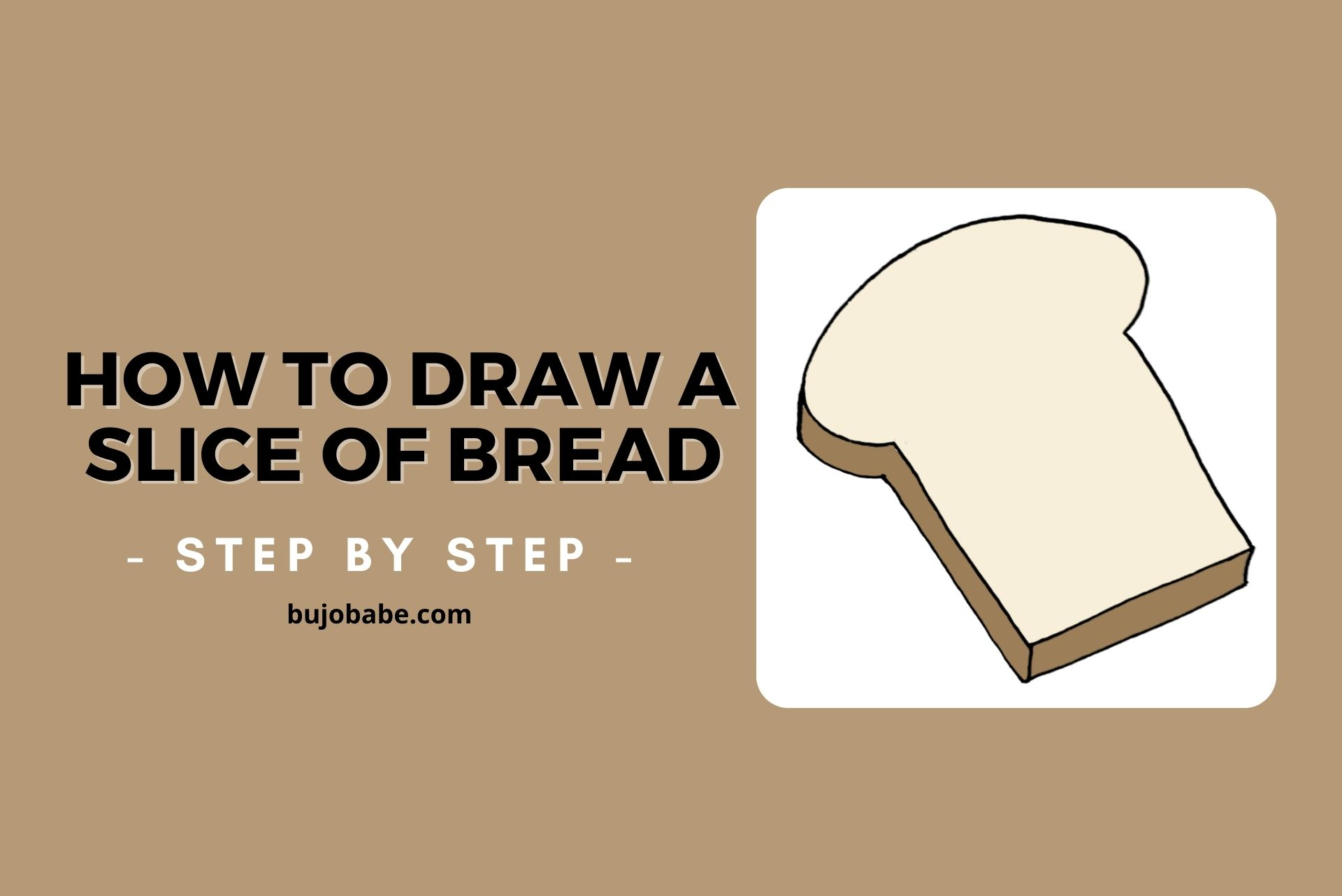 how to draw a slice of bread