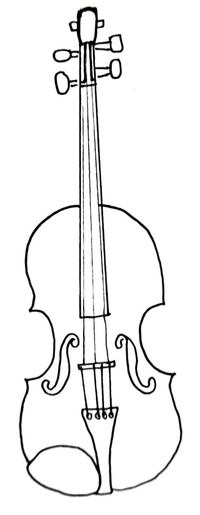 how to draw a violin step 9