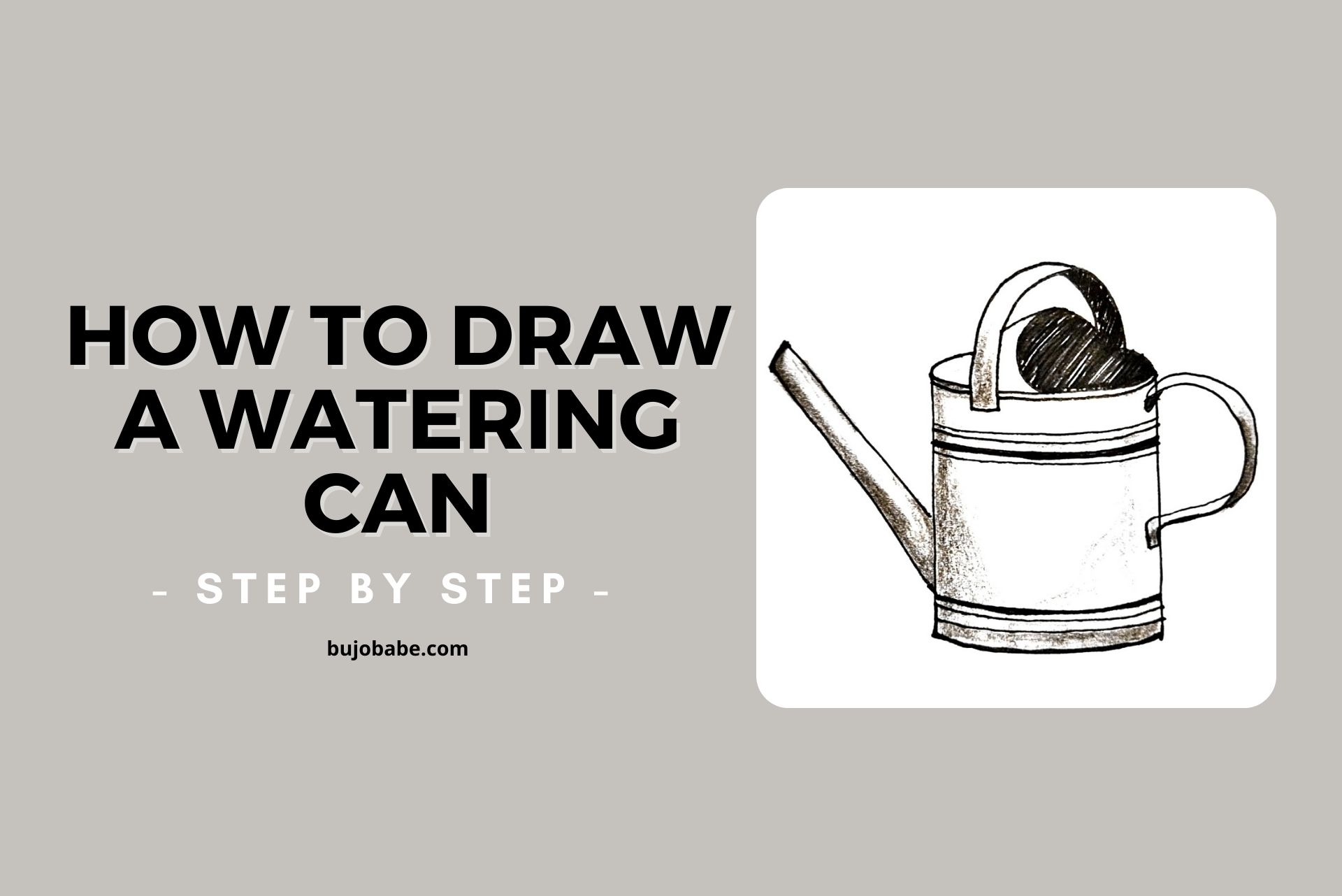 how to draw a watering can