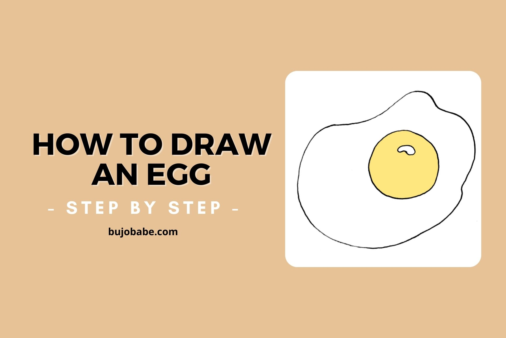 how to draw an egg step by step