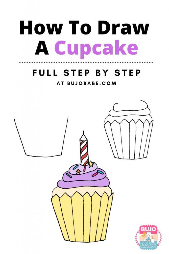 cupcake drawing tutorial