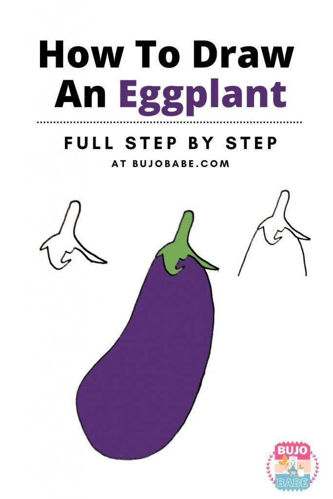 eggplant drawing tutorial