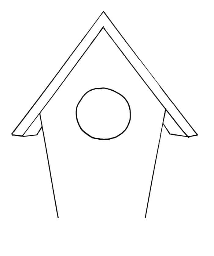 How To Draw A Birdhouse Step 6
