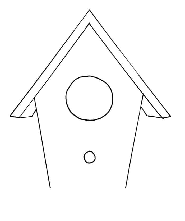 How To Draw A Birdhouse Step 7