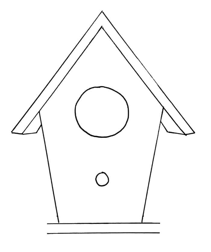 How To Draw A Birdhouse Step 8