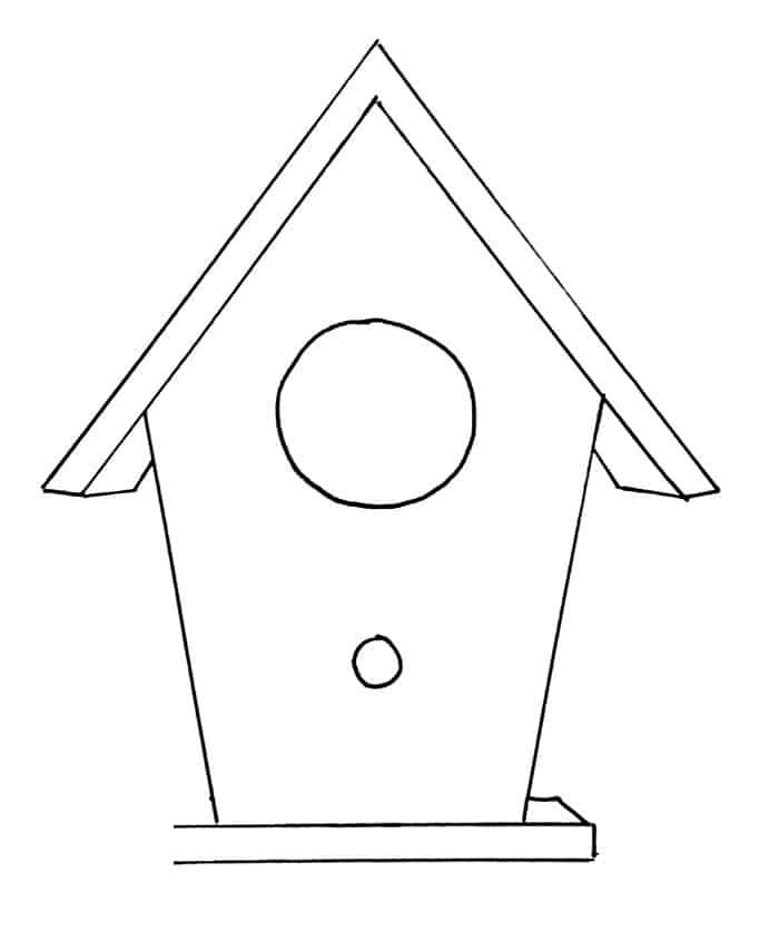 How To Draw A Birdhouse Step 9