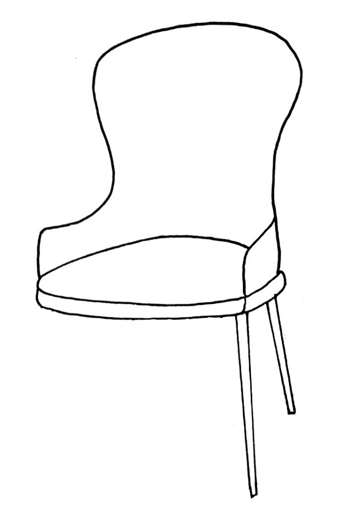 How to draw a chair step 7