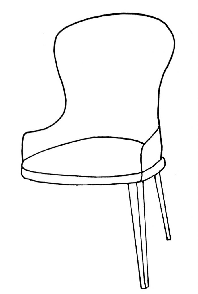 How to draw a chair step 8