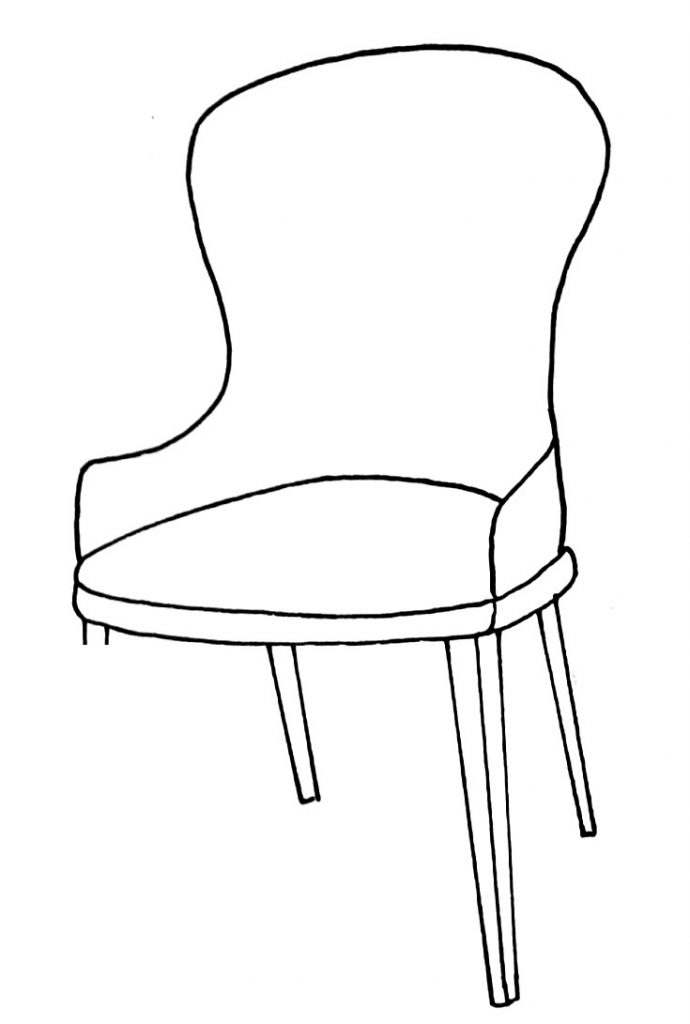 How to draw a chair step 9