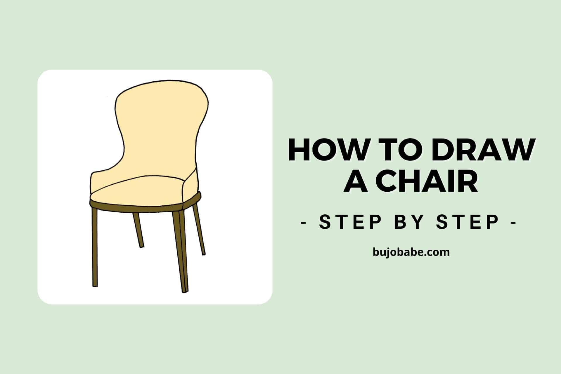 how to draw a chair step by step