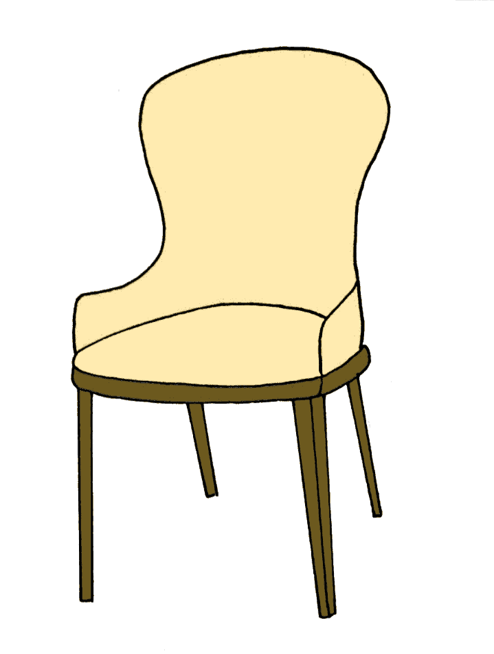 How to draw a chair step 10