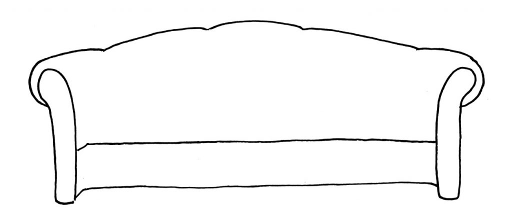 How to draw a couch step 4
