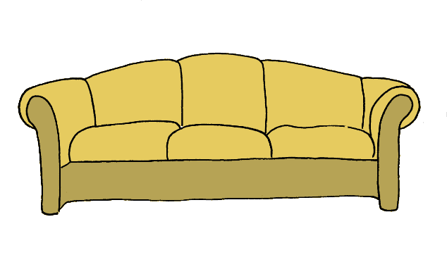 How to draw a couch step 7