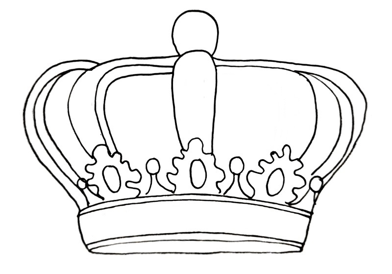 How to draw a crown step 11